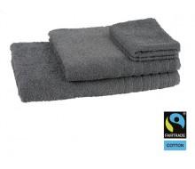 Lot de 4 éponges unies coton gris Fairtrade