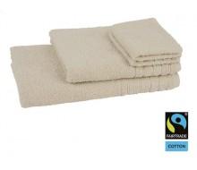 Lot de 4 éponges unies coton ivoire Fairtrade