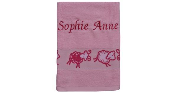 Serviette de bain moutons