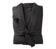 Peignoir de bain kimono noir taille 50/52 (XL)