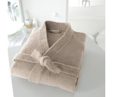 Peignoir de bain kimono beige taille 38/40 (S)