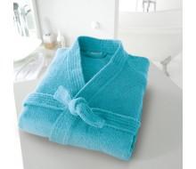 Peignoir de bain kimono turquoise taille 42/44 (M)
