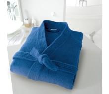 Peignoir de bain kimono bleu taille 34/36 (XS)