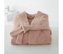 Peignoir de bain kimono rose poudré taille 42/44 (M)
