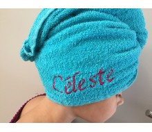 Turbie Towel bleu