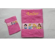 Serviette Princess avec gant de toilette