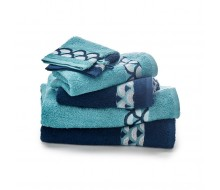 Set de serviettes bleu
