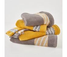 Set de serviettes gris/ jaune