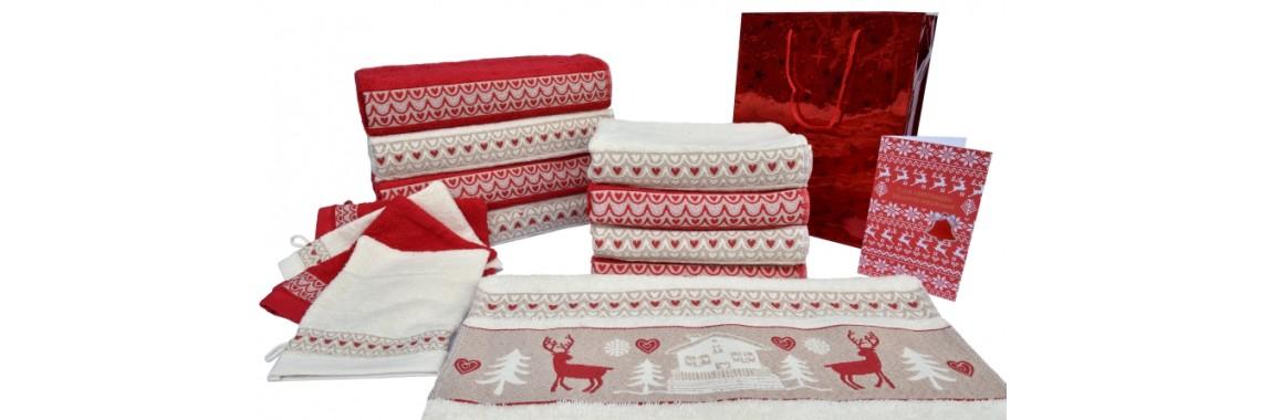 Set de serviettes motif 'chalet'