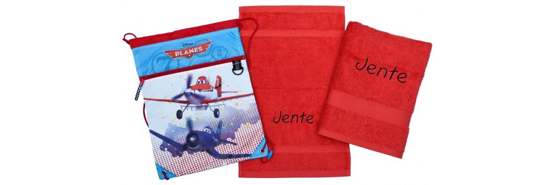 2-delige handdoeken(zwem)set Jules Clarysse oranjerood