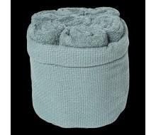 7 serviettes d'hôte Clarysse + panier