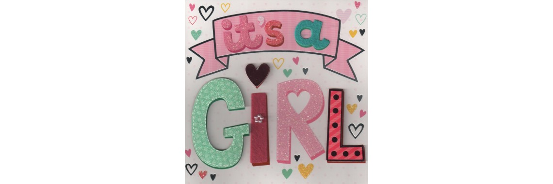 kaartje it's a girl