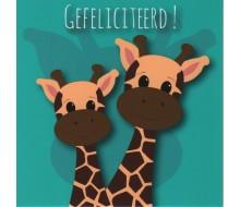 Carte de voeux Giraffes