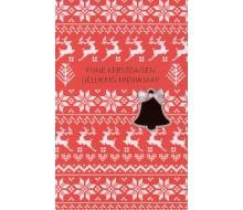 Carte de voeux kerst en nieuw rouge