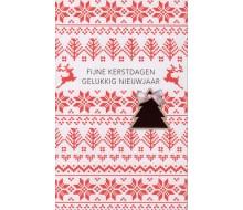 Carte de voeux kerst en nieuw blanc