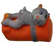 Peluche hippo avec fleece
