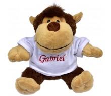 Peluche singe avec T-shirt