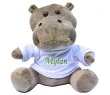 Peluche hippo avec T-shirt