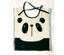 Bavoir avec des rubans Clarysse panda