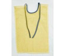 Bavoir avec des rubans jaune clair