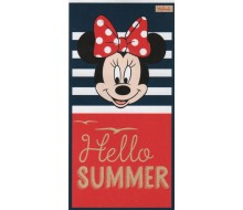 Drap de plage Minnie Hello Summer