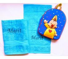 Set de serviettes de natation Bumba bleu