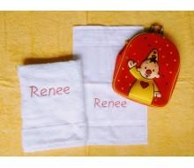 Set de serviettes de natation Bumba rouge