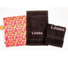 Set de serviettes de natation Emoji pink