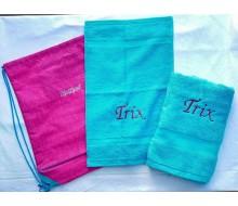 Set de serviettes de natation Kickers Rose-Turquoise